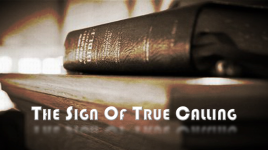 The Sign of True Calling Graphic