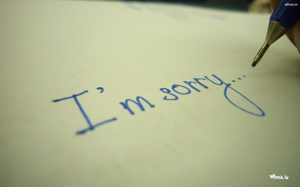 Sorrow, Regret, and Saying I'm Sorry