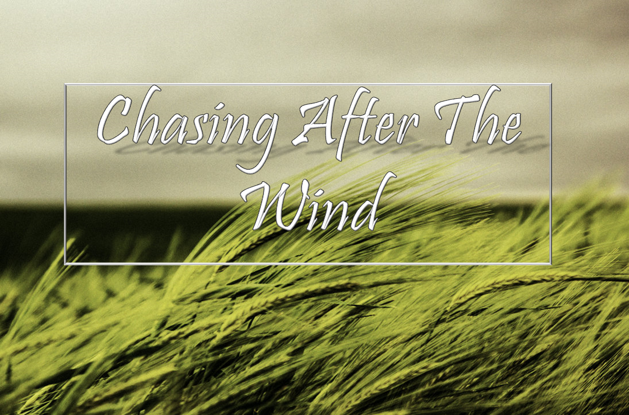 Chasing After The Wind – THE NERDY THEOLOGIAN